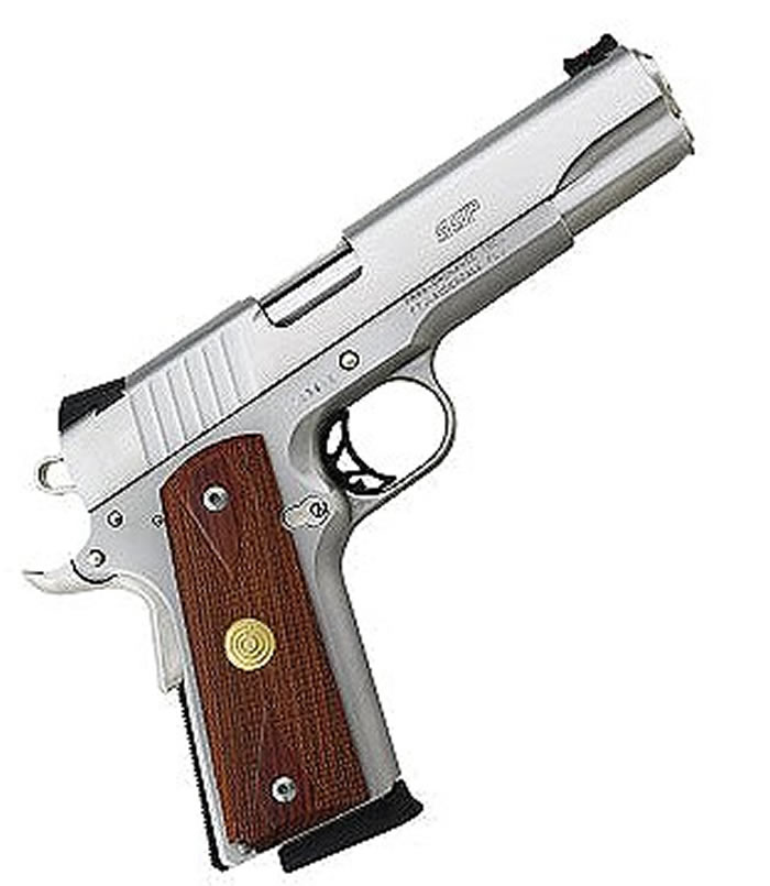 Para 1911 Single Action Single Stack Pistol PX745SGR, 45 ACP, 5 inch, Wood  Grip, Stainless Finish, 8 Rd - Able Ammo