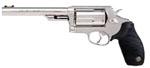 Taurus aModel 45 410 Tracker Revolver 2441069T 410 GA 45 Long Colt 6 1 2 Ribber Grip Overlay Matte Stainless Finish 5 Rd