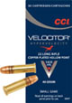 CCI Velocitor Small Game Ammunition 0047 22 Long Rifle Hollow Point 40 GR 1435 fps 50 Rd bx