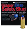 Glaser Blue Safety Slugs 00700 9 mm X 18 mm Makarov Round Nose 75 GR 1150 fps 6 PK
