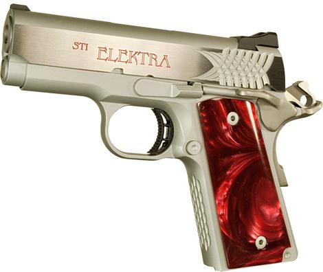 Sti Elektra 1911 Pistol 10 060019 9mm 3 In Aluminum Frame Red