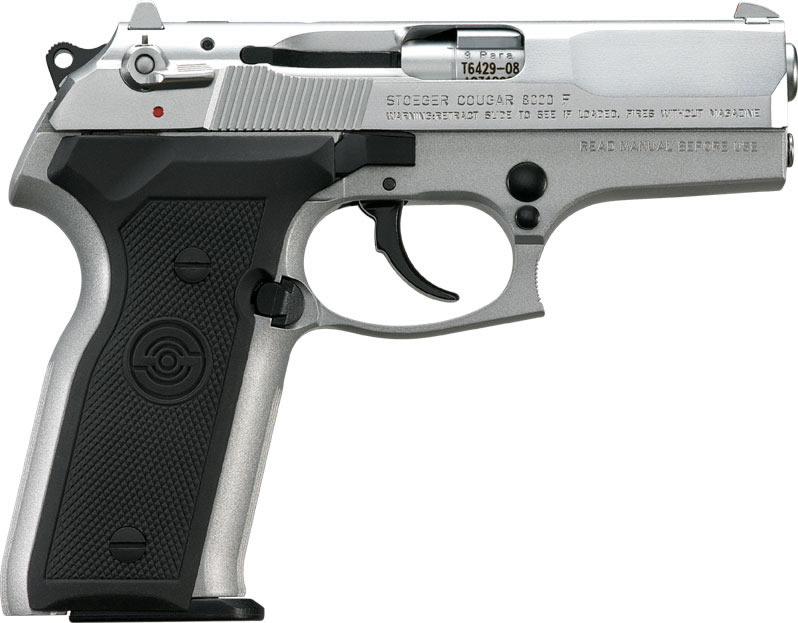 Stoeger Cougar Double Action Pistol ST31710, 40 S&W, 11+1 Capacity,  Bruniton Silver Finish - Able Ammo