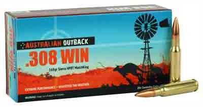 australian outback rifle ammo ob308smk 308 winchester sierra hpbt