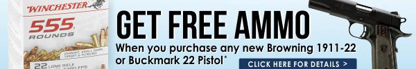 Browning 1911-22 Free Ammo Promo